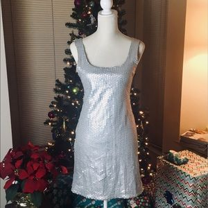 Bailey 44 Silver Sequin Tank Dress